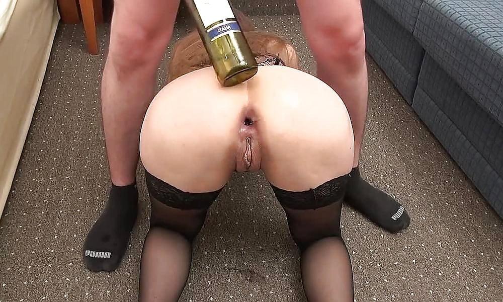 Extreme Anal Fisting And Bottle Fucked Slut
