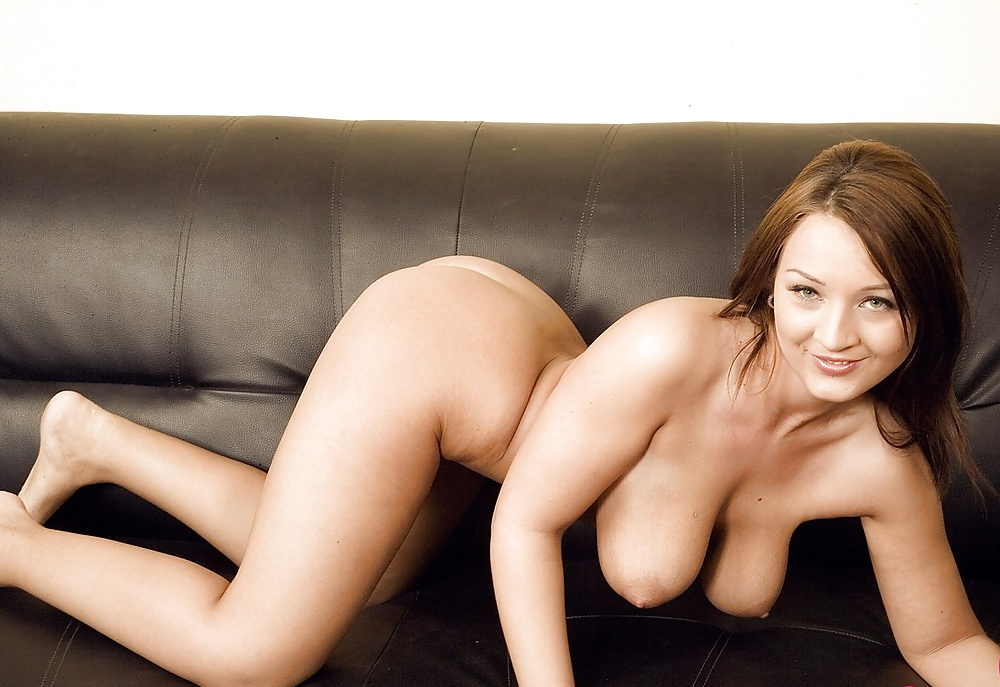 Beautiful nude model with large boobs