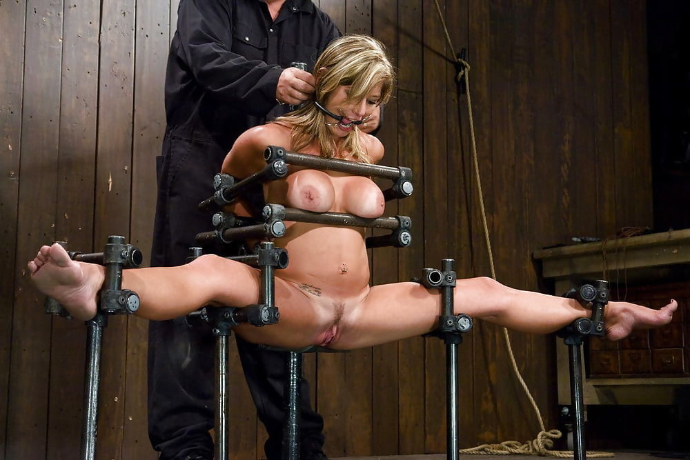 Abella danger's first robotic anal rope bondage streaming photo