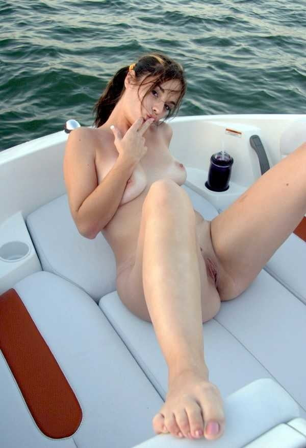 Naked Czech Girl Gets A Tan On Paddle Boat