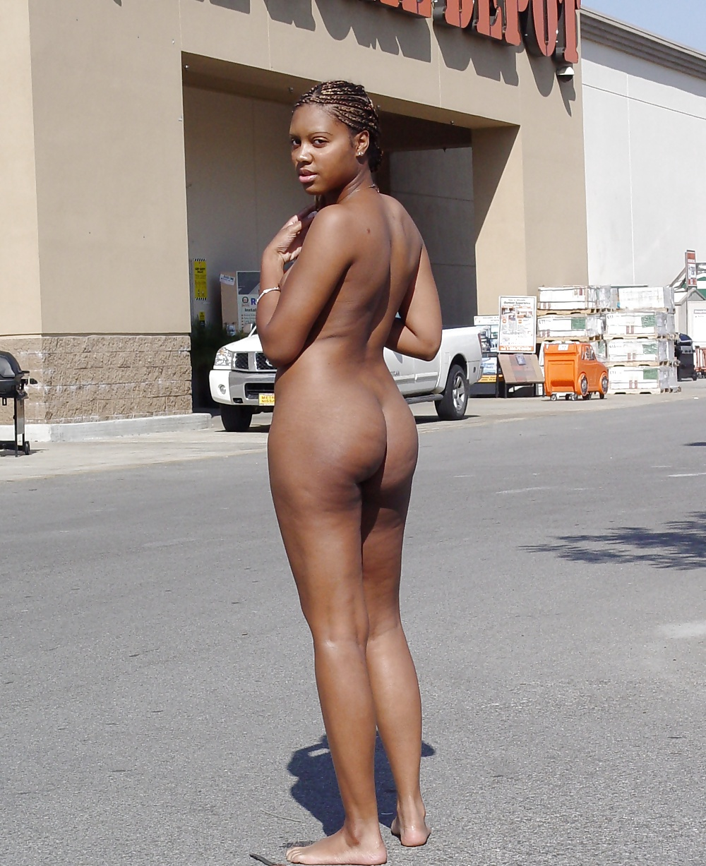 Black girls and naked in public