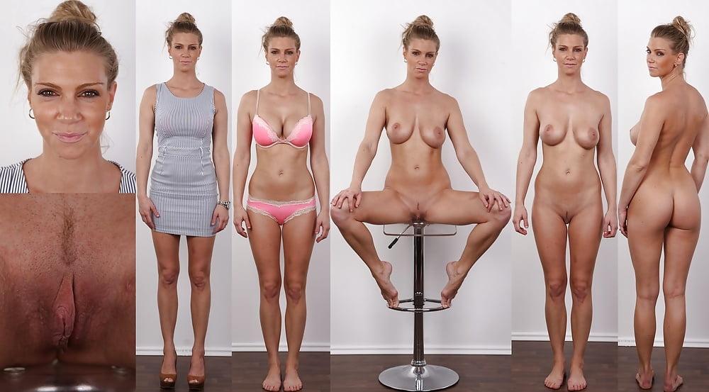 Nude female model slut, old uncut cock