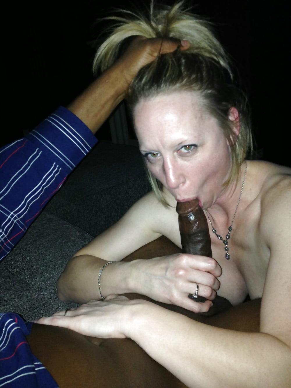 Ebony Milf Takes White Cock
