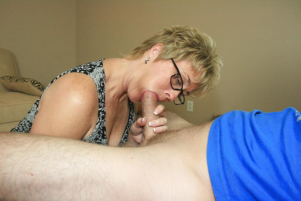 Mom Sucks Son's Dick Dad Watches
