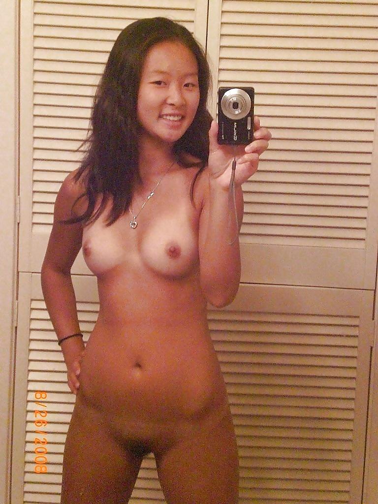 Asian girl nude self pic
