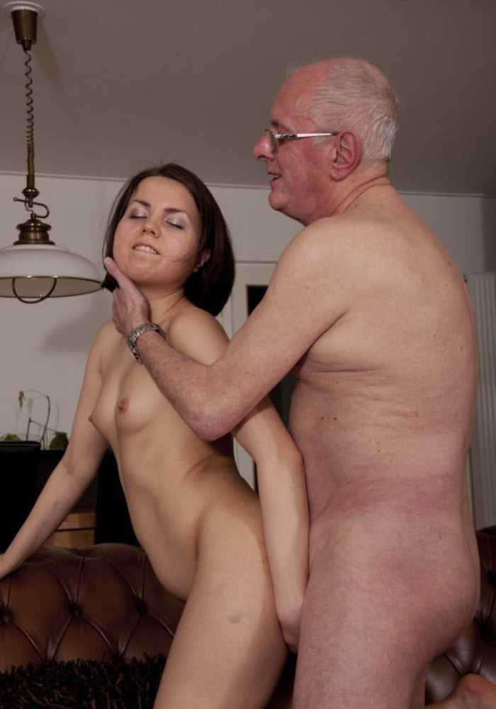 Grandpa gets young girl