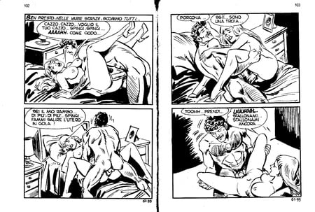 Vintage porno komiks pary sex zabawki analne