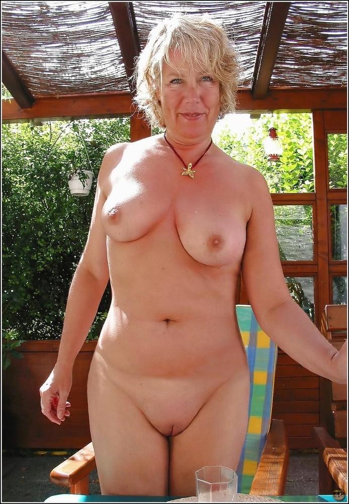 Skinny old lady naked