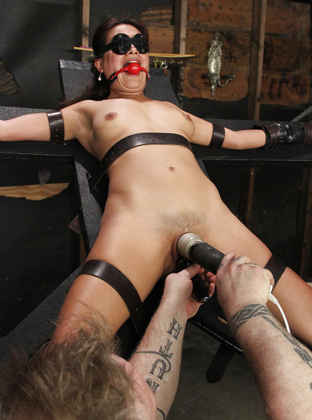 Women in bondage and orgasms