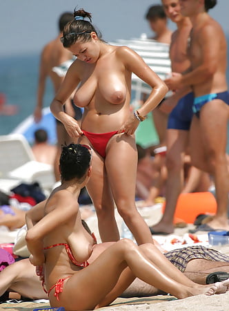saggy puffy beach boobs