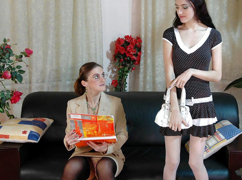 Older woman seducing girl-2627
