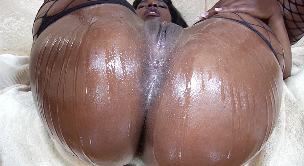Black oiled ass