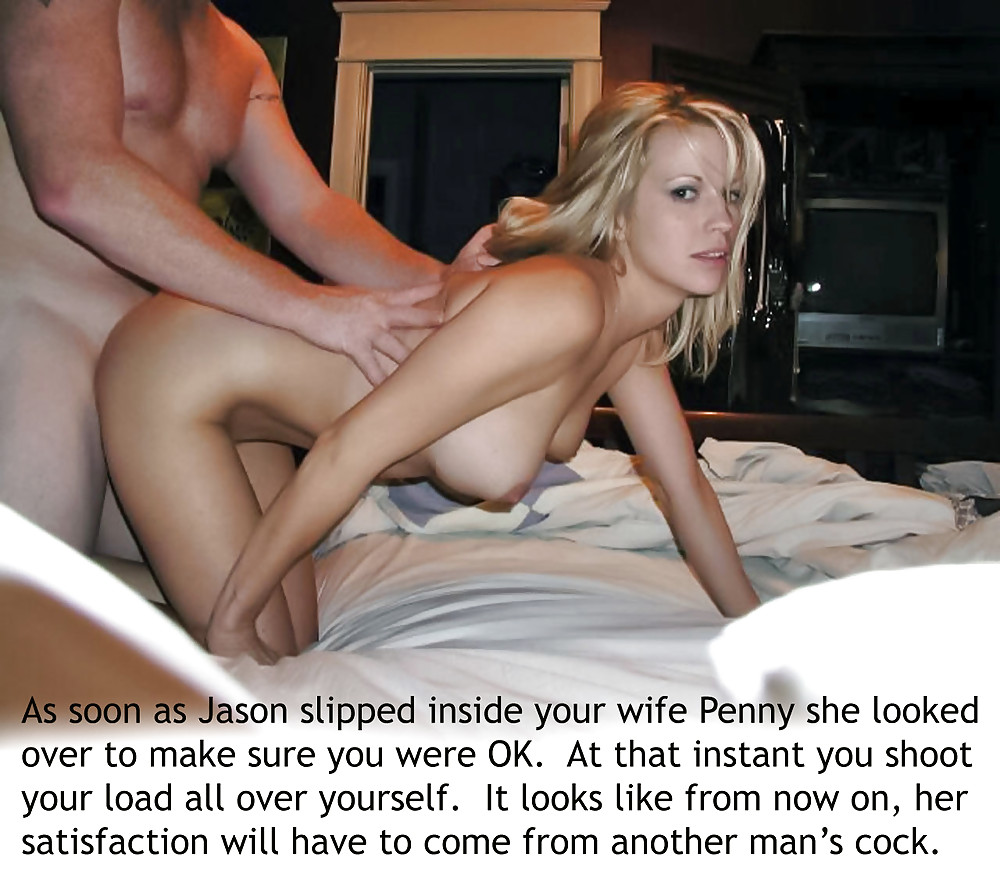 Cuckold hotwife chastity captions