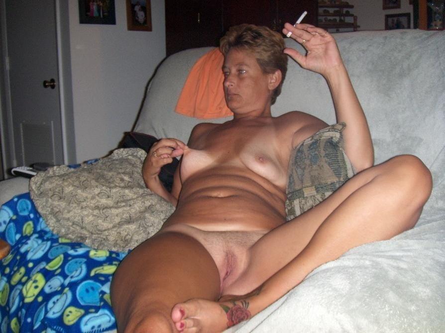 Smoking nude wife — 3