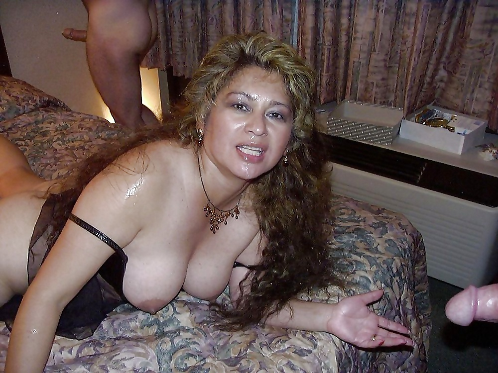 Latina wife gangbang