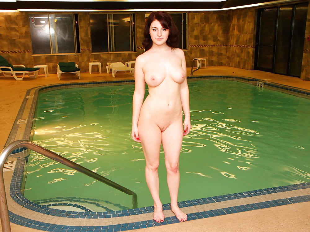 Nude uncensored women naked at public pool