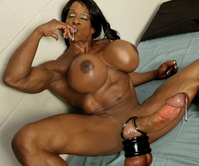 Black ebony black muscle girl will make you jackoff hard