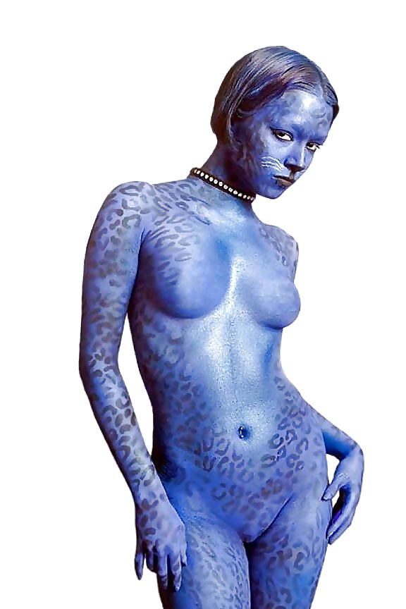 Body painted nude women