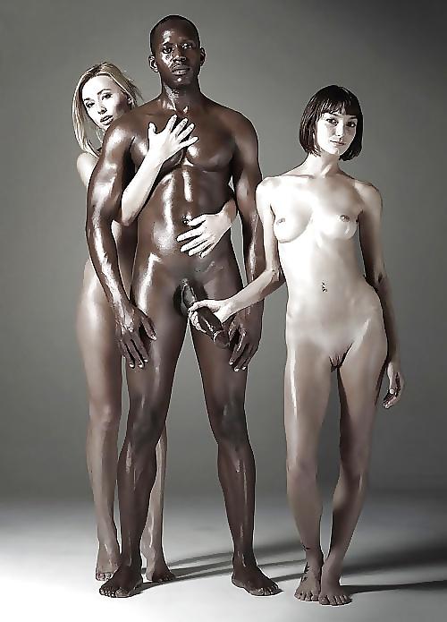 Naked black and white guys invite lustful women