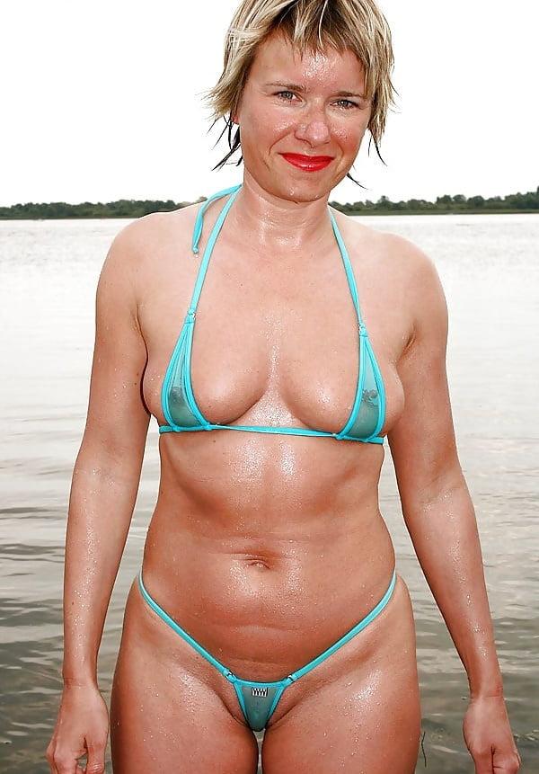 Mature bikini