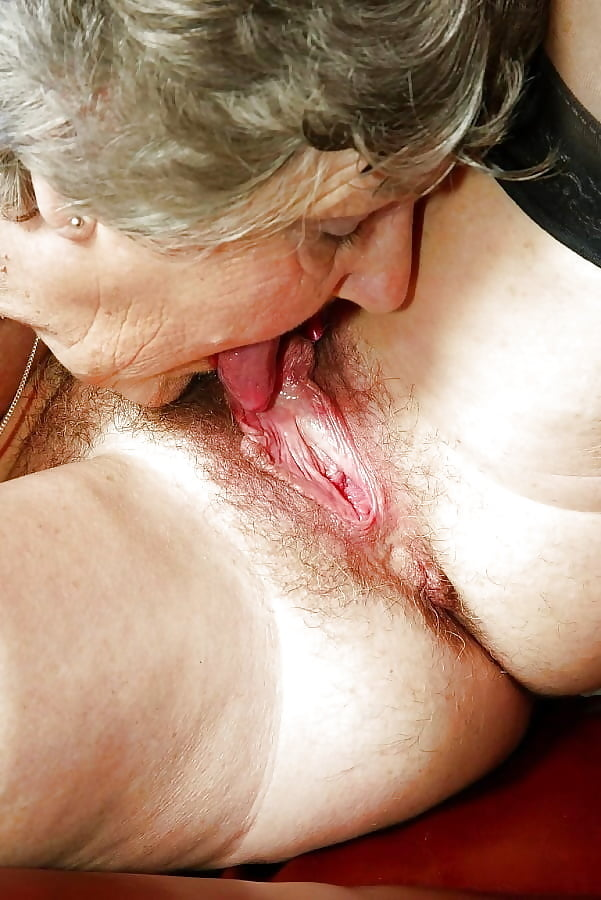 Busty Old Granny Eating Teenage Pussy