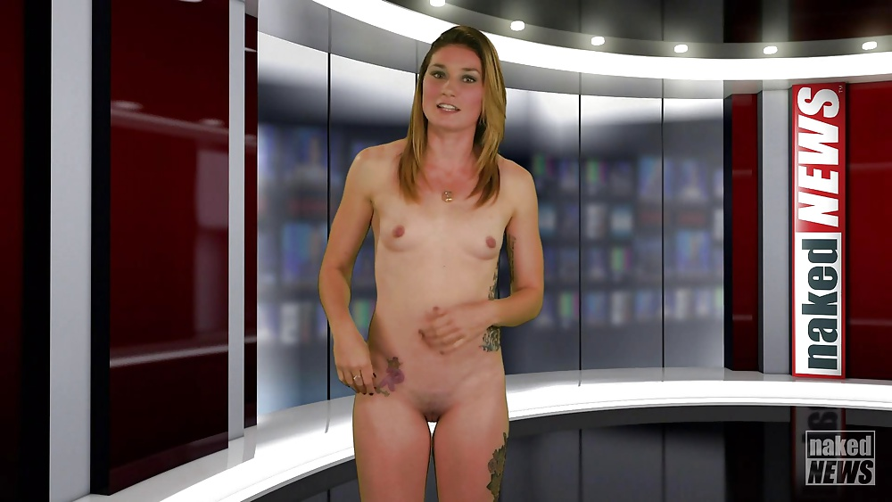 Tv host exposes her huge tit on live television