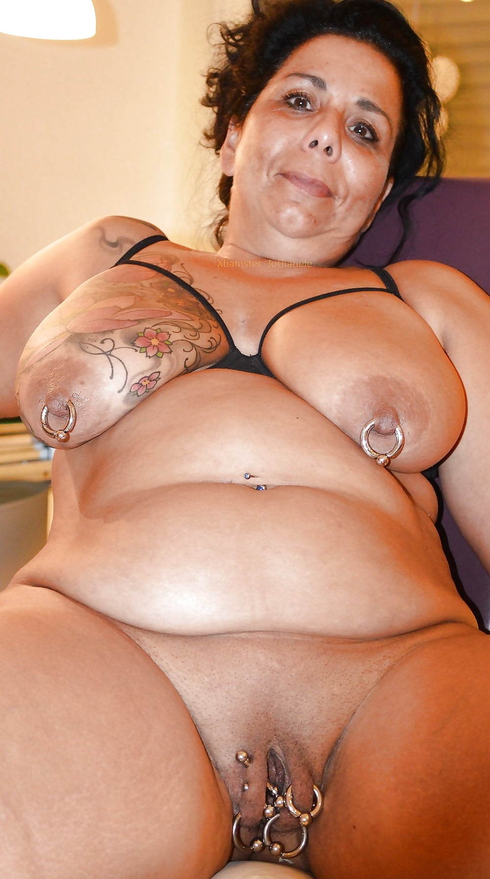 Fat pumped pierced pussy fisted