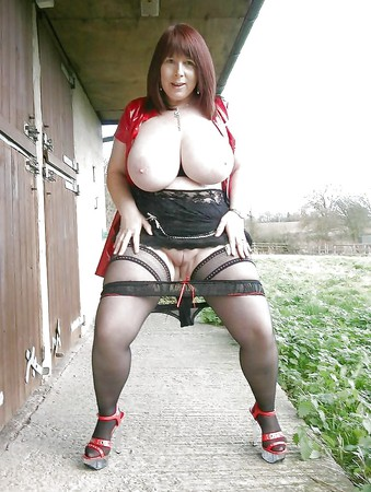 Huge matures outdoors