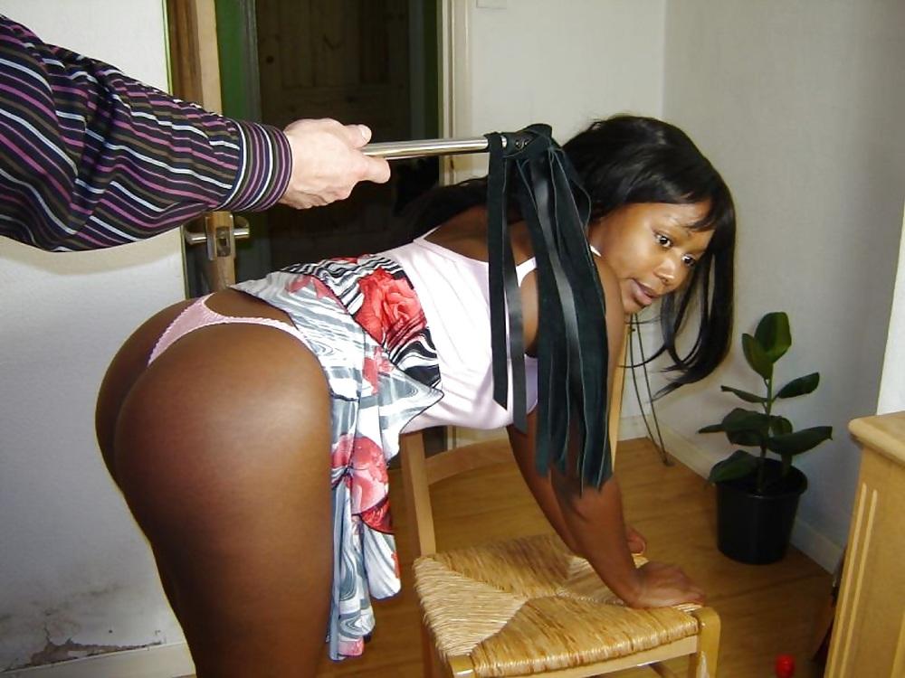 Black woman getting spanked