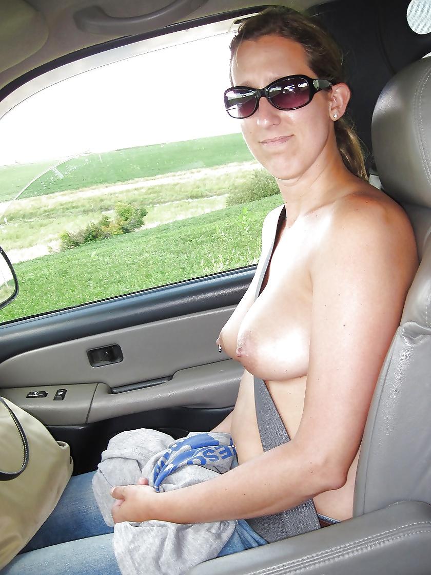 Mature Women Flashing Big Tits Outdoors