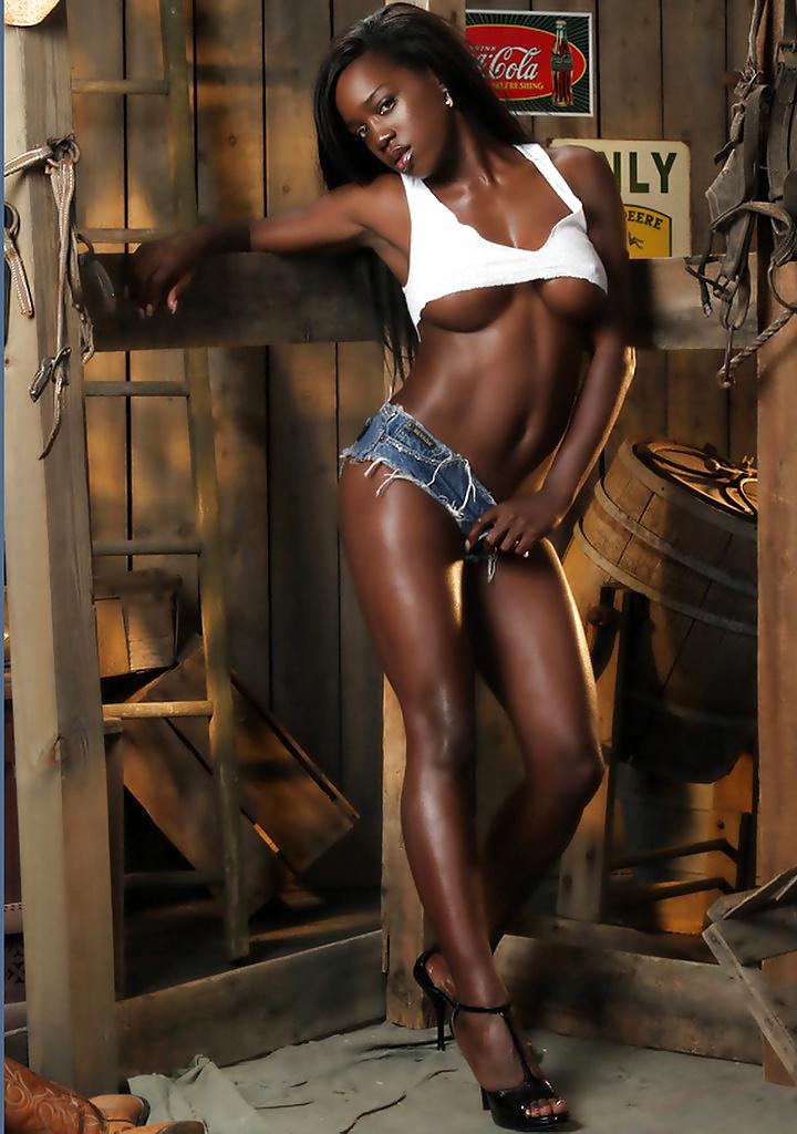 Dark black girl nude