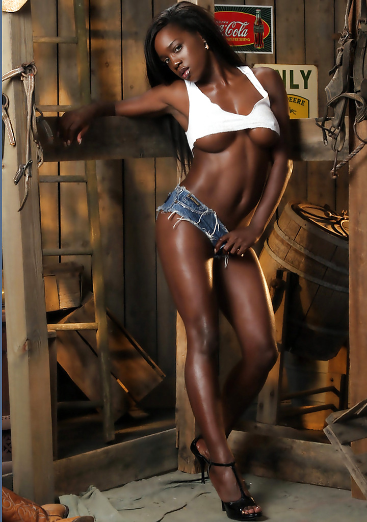 Dark skin black women nude