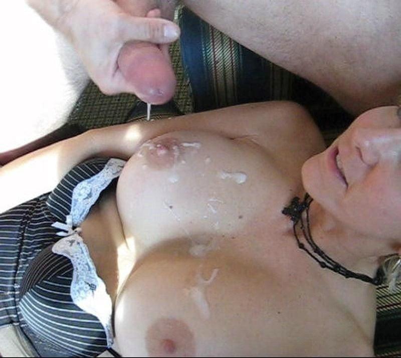 порно муж кончает на соски жены них