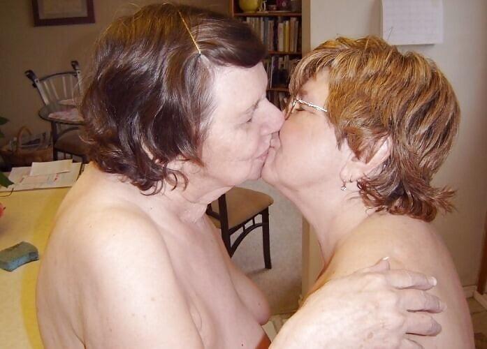Hot mature women kissing