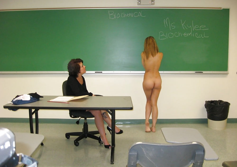 Girl get naked in class