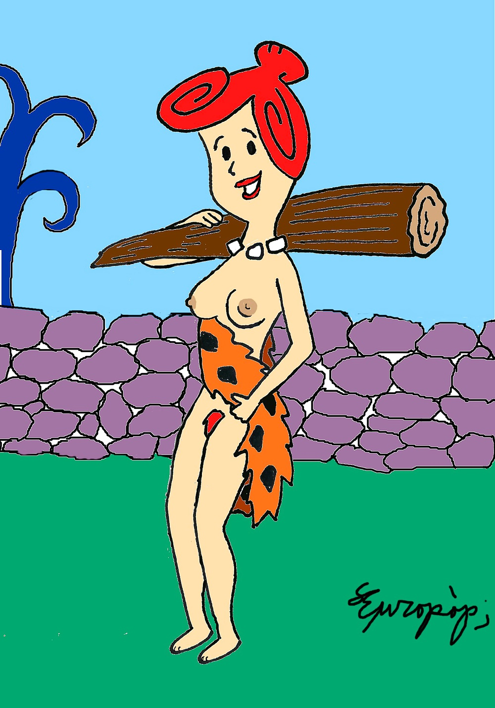 Women pussy nude images of wilma from flintstones the mud