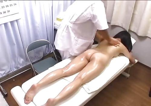 Japanese girl having massage