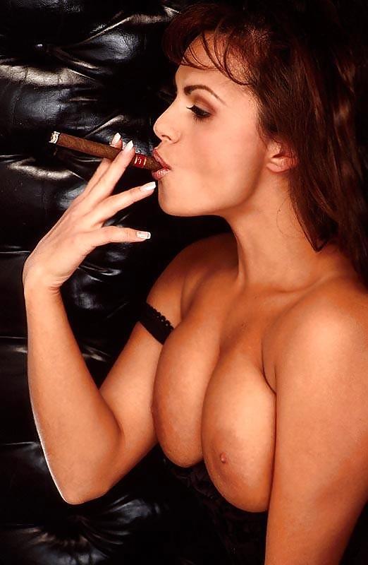 Milf cigar smoking women