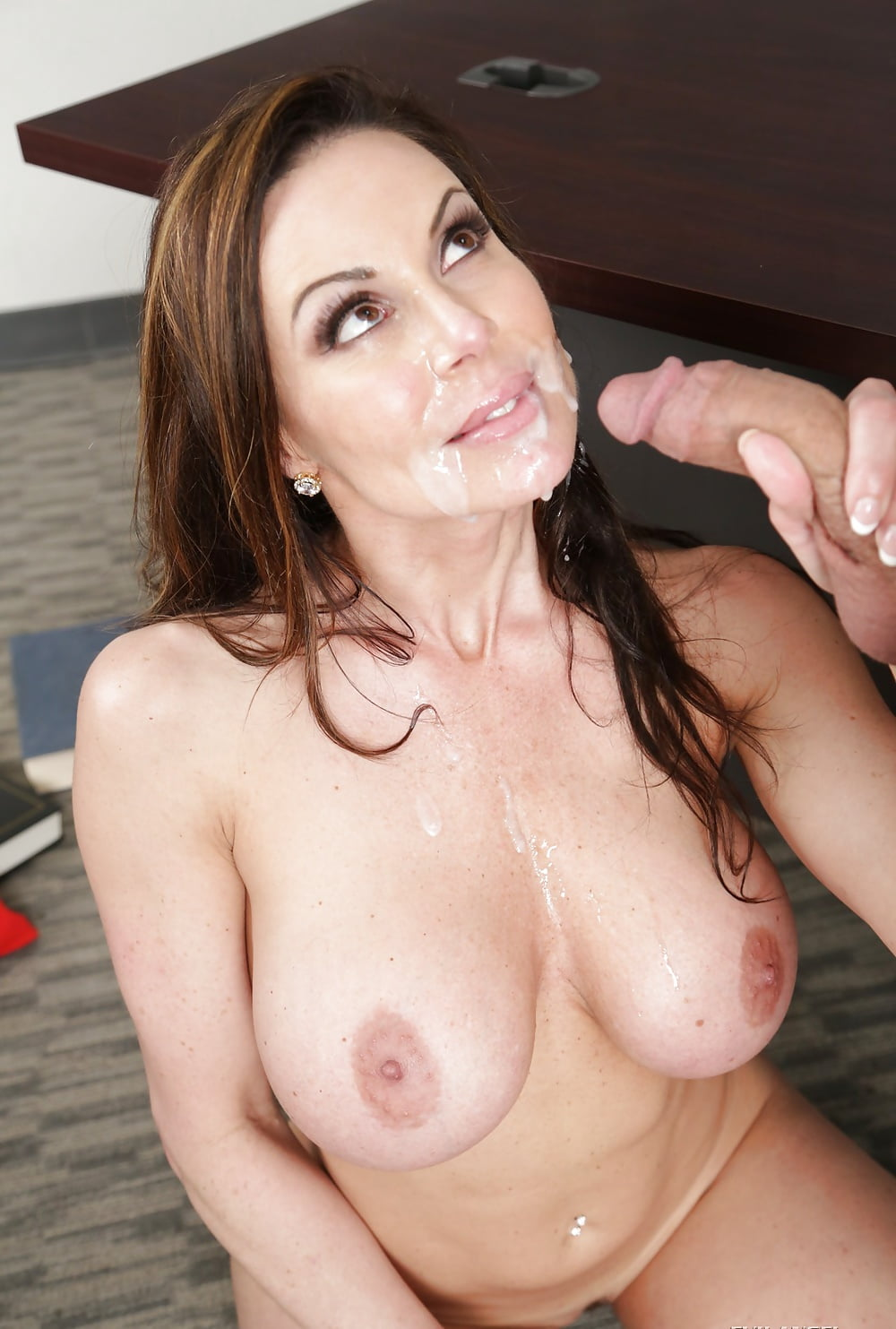 Hot milf india summer takes cumshot to her belly and arm pit