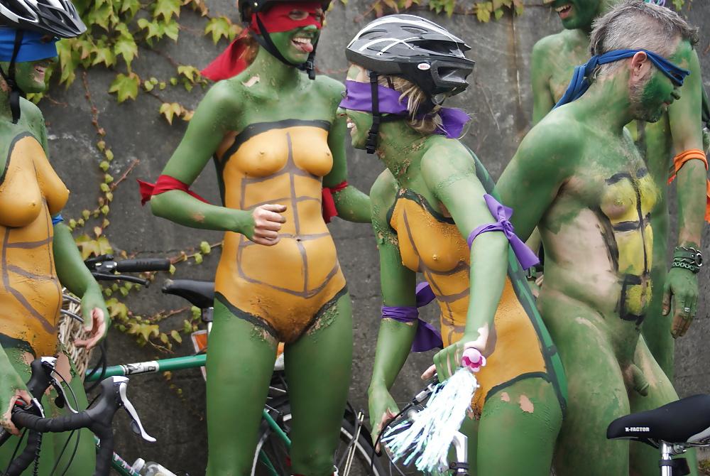 Ninja turtles naked body paint nude — pic 11