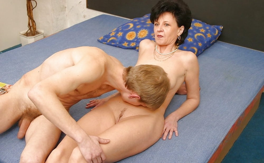 Mature women doing young boys, asian butt fucking hard