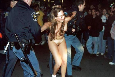 girl caught nude by police