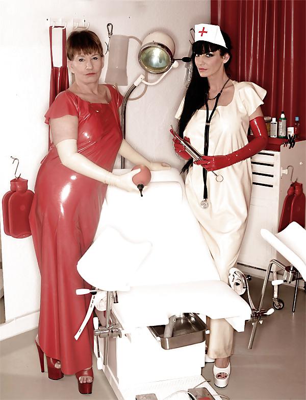 Nurse gives guy an enema