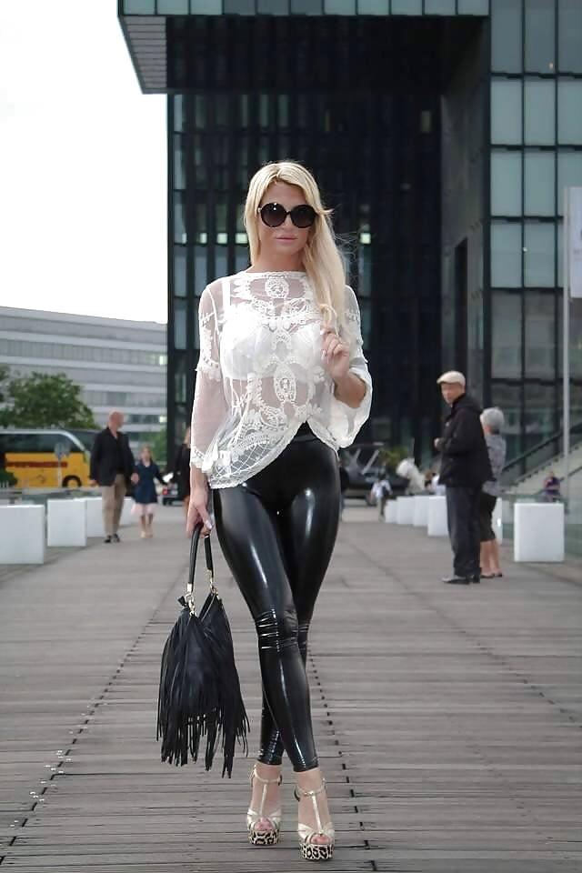 Erny dark flirt4free goth babe in latex and stockings - 2 part 8