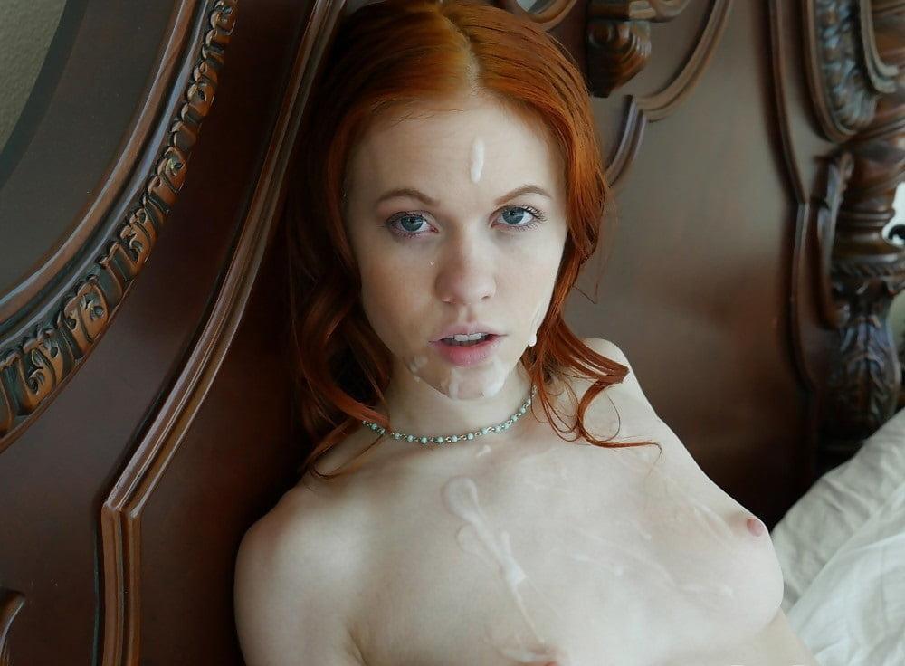 Facial Cum For Young Redhead Stephanie