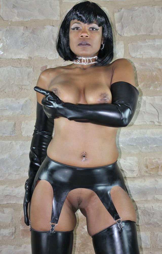 Ebony latex nude, hot babe strips for cum handjob