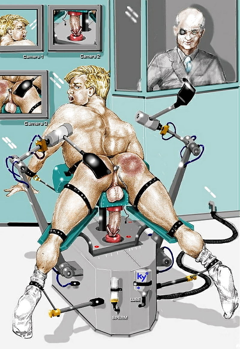 Forced Male Milking Machine