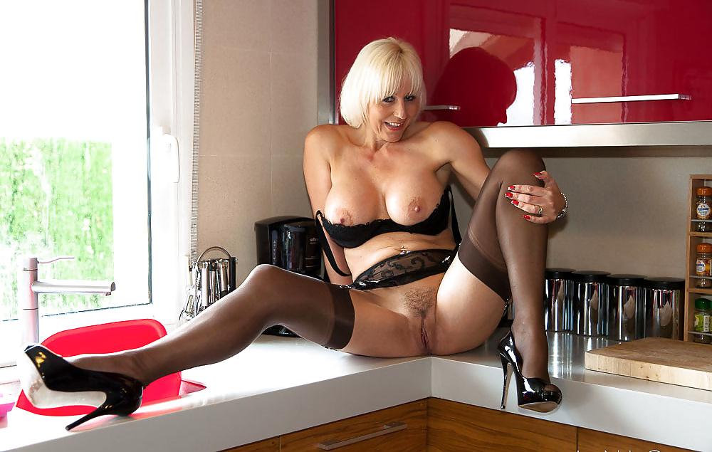 Nylon stocking boobs