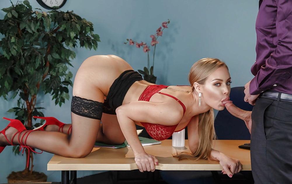 Beautiful Secretary Nicole Aniston Stripping In The Office