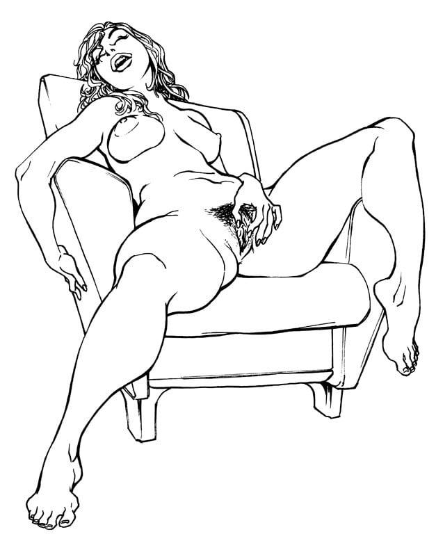 Рисованные порно мастурбация #1